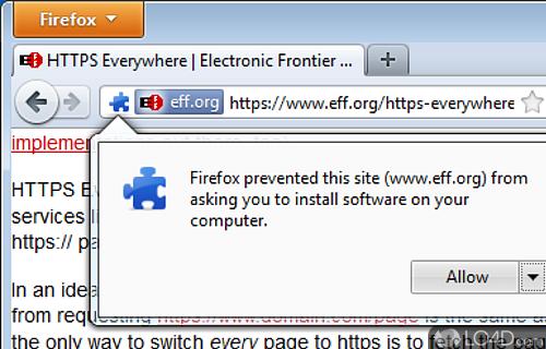 HTTPS Everywhere Screenshot