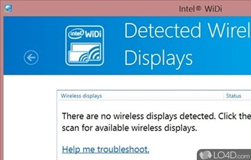 Check if your windows pc supports intel widi.