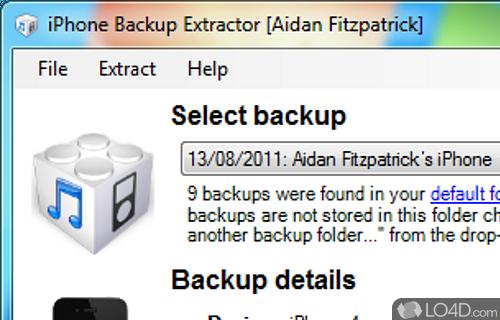iPhone Backup Extractor Screenshot