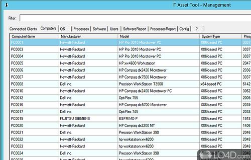 IT Asset Tool Screenshot