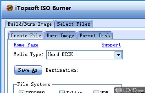 iTopsoft ISO Burner Screenshot