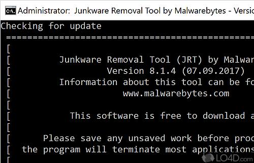 Junkware Removal Tool Screenshot