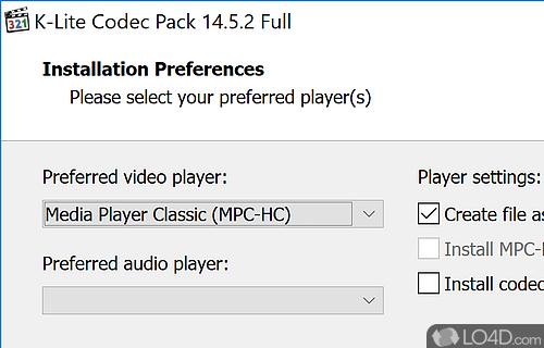 K-Lite Codec Pack Screenshot