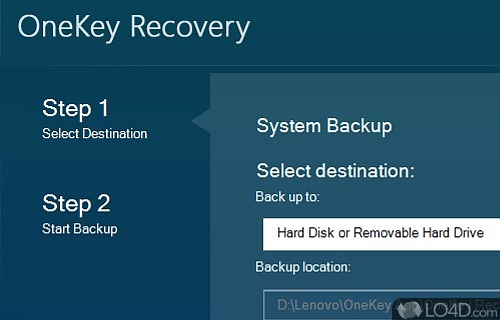 Lenovo OneKey Recovery Screenshot