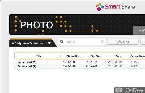LG Smart Share Screenshot
