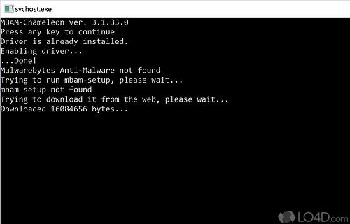 Malwarebytes Chameleon Screenshot