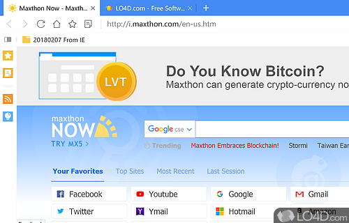 Maxthon Browser Screenshot
