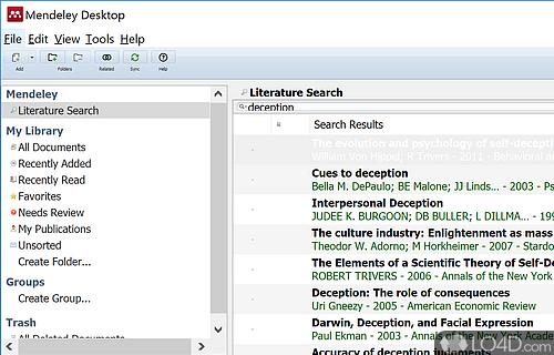 Mendeley Desktop Screenshot
