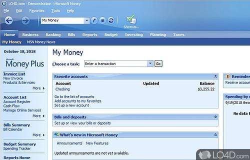 Microsoft Money Screenshot