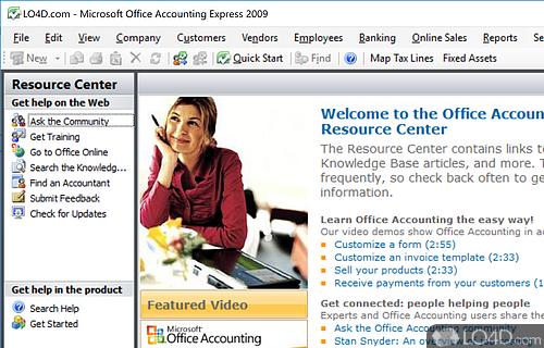 Microsoft Office Accounting Express Screenshot