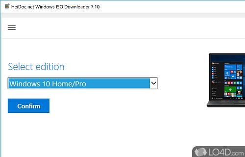 Microsoft Windows ISO Download Tool Screenshot
