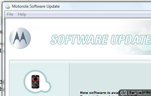 Motorola Software Update Screenshot