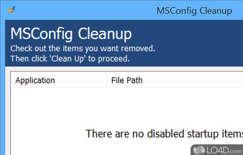 MSConfig Cleanup Screenshot