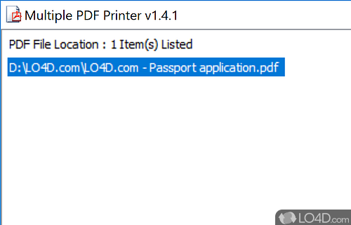 Multiple PDF Printer Screenshot