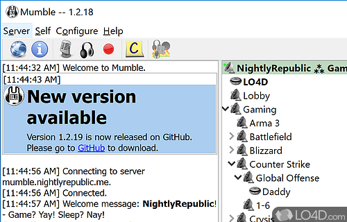 Mumble Screenshot