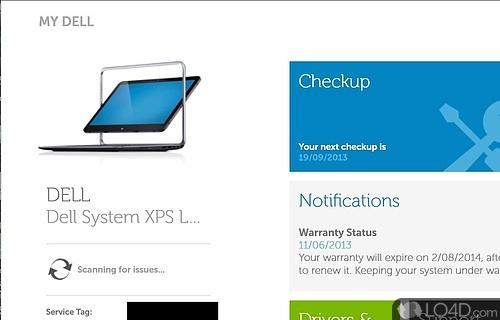 My Dell Screenshot