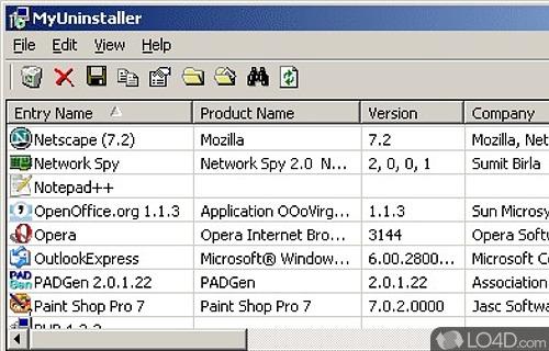 MyUninstaller Screenshot