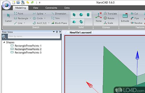 NaroCAD Screenshot