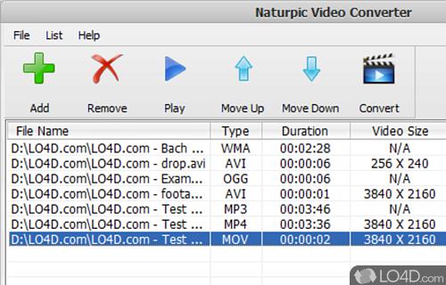 Naturpic Video Converter Screenshot