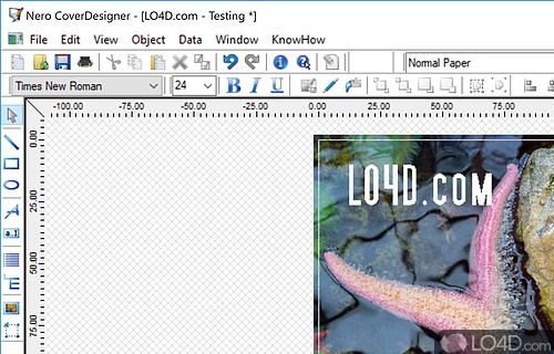 Nero CoverDesigner Screenshot