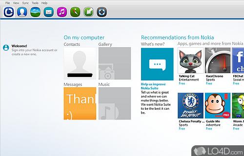 Nokia Suite Screenshot