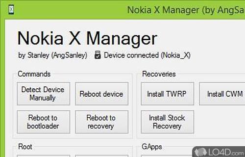 Nokia X Manager Screenshot