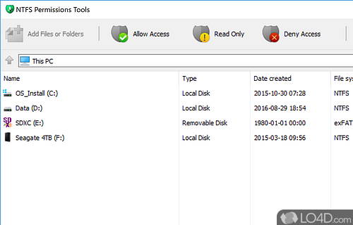 NTFS Permissions Tools Screenshot