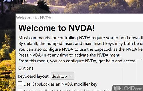 NVDA Portable Screenshot