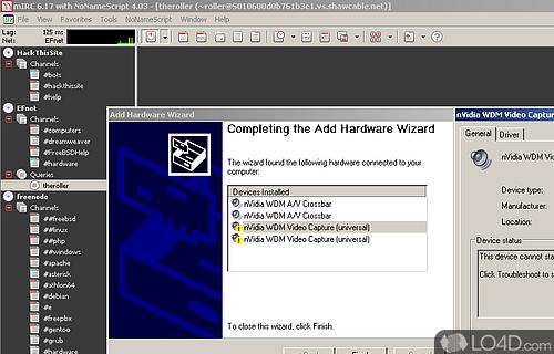 NVIDIA WDM Drivers Screenshot