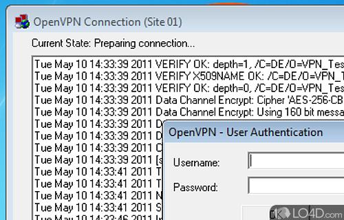 OpenVPN GUI Screenshot