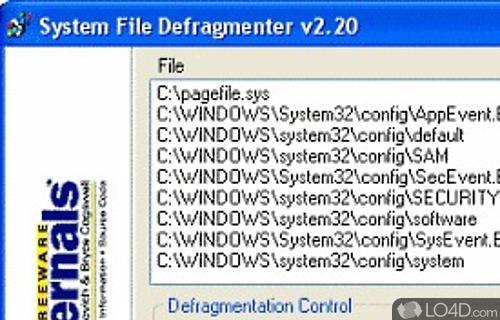 Pagedefrag Screenshot