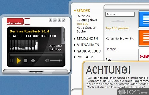 Phonostar Player Screenshot