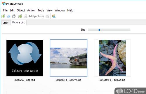 PhotoOnWeb Album Creator Screenshot