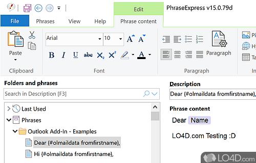 PhraseExpress Screenshot