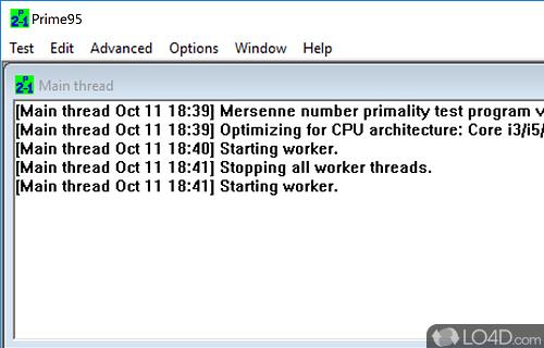 Prime95 Screenshot
