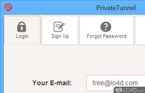 PrivateTunnel VPN Client Screenshot