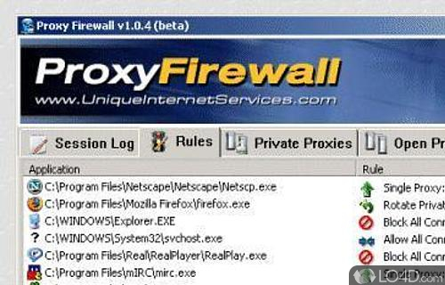 Proxy Firewall Screenshot