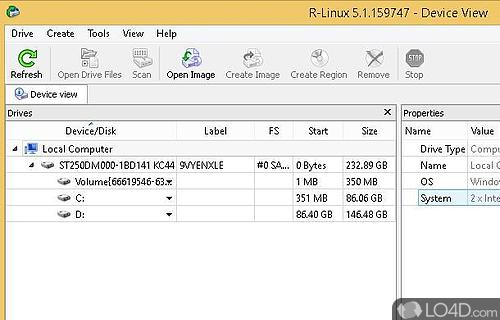 R-Linux Free Recovery Screenshot