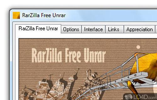 RarZilla Free Unrar Screenshot