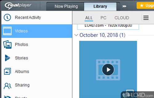 RealPlayer Cloud Screenshot