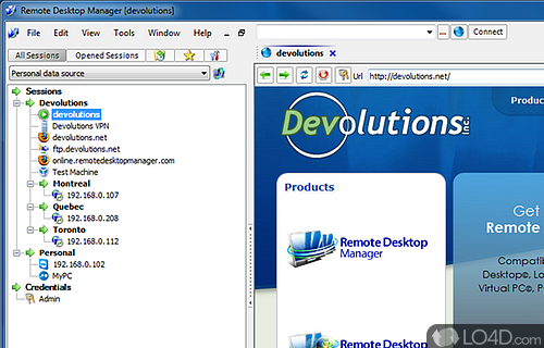 Remote Desktop Manager Free Screenshot