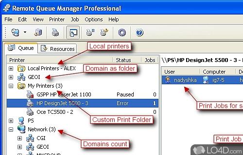 Remote Queue Manager Professional Screenshot