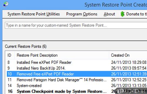 Restore Point Creator Screenshot