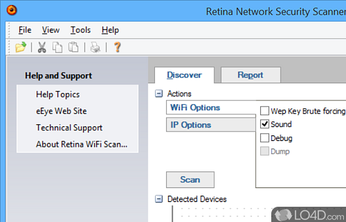 Retina WiFi Scanner Screenshot