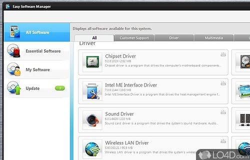 Samsung Easy Software Manager Screenshot