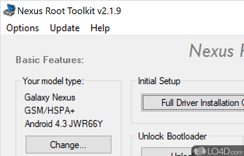 Samsung Galaxy Nexus Root Toolkit Screenshot