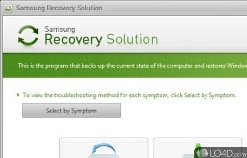 Samsung Recovery Solution Screenshot