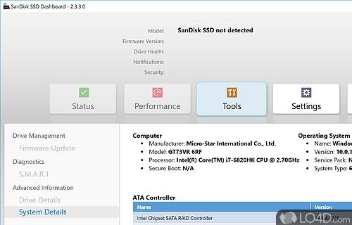 Sandisk ssd dashboard 2 3 2 0 download | SanDisk SSD Dashboard