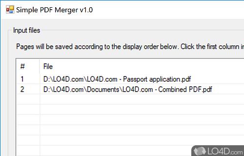 Simple PDF Merger Screenshot