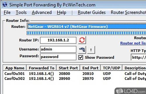 Simple Port Forwarding Screenshot